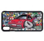 Koolart Stickerbomb & Licensed Mk3 Fiesta RS Turbo Car Image Mobile Phone Case Cover Fits iPhone